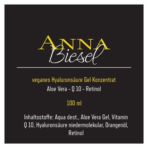 Anna Biesel Hyaluronsäure Gel Konzentrat + Aloe Vera + Vitamin Q 10 + Retinol