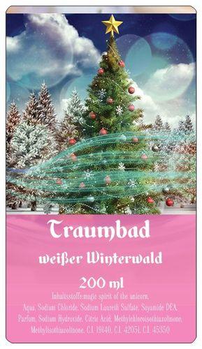 Traumbad Weißer Winterwald Schaumbad