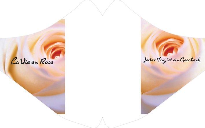 Mundmaske Rose waschbar